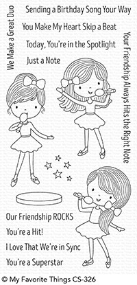 Happymade - My Favorite Things clear stamp set - Friendship Rocks (CS-326)